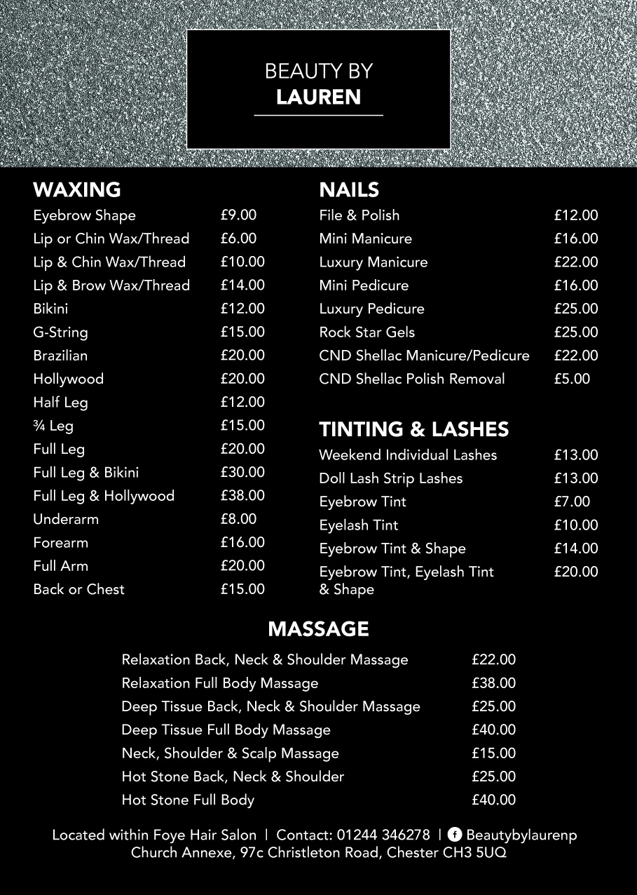 Foye Hair Salon Chester Beauty